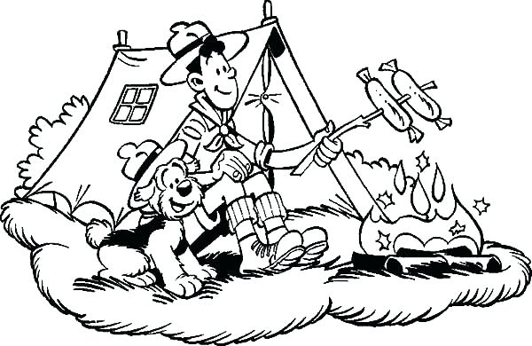 600x390 Camping Coloring Page Printable Camping Coloring Pages Online