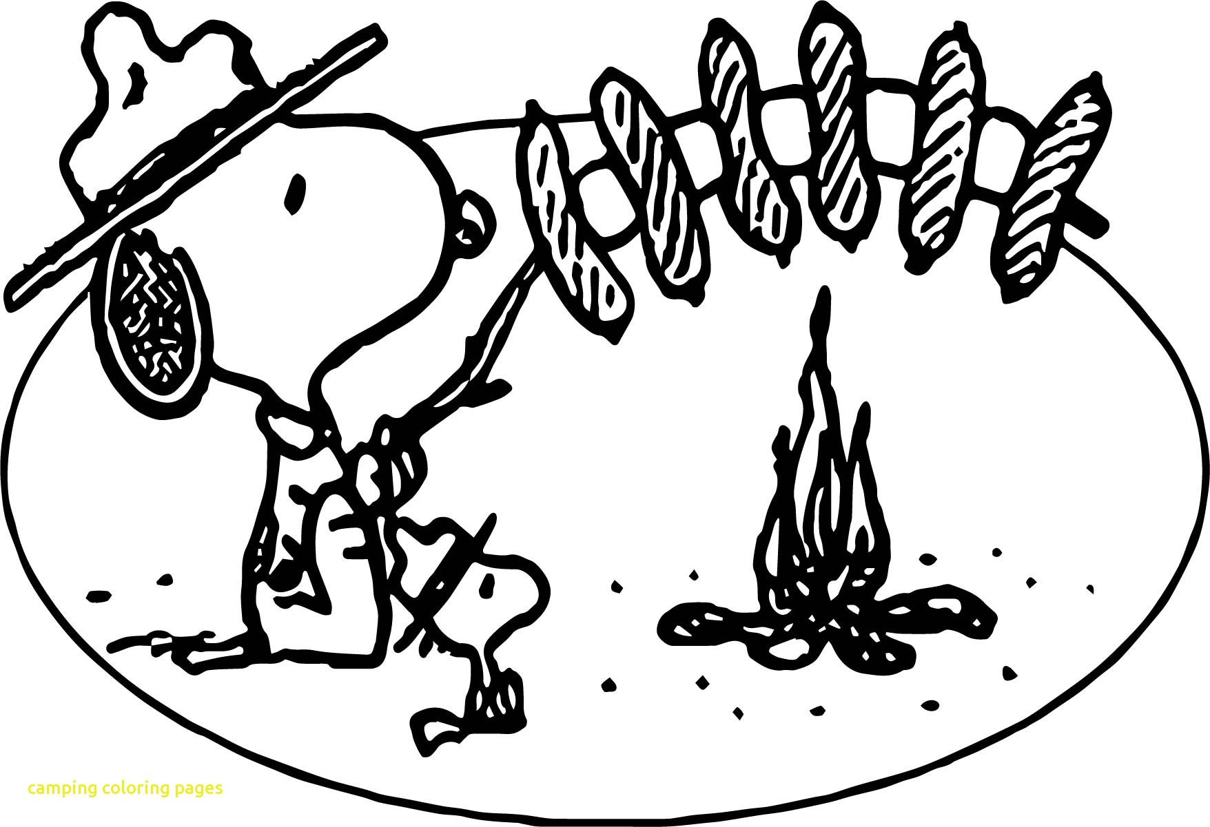 1756x1201 Camping Coloring Pages