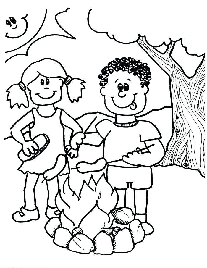 700x906 Camping Coloring Pages Camping Coloring Pages To Print Camping