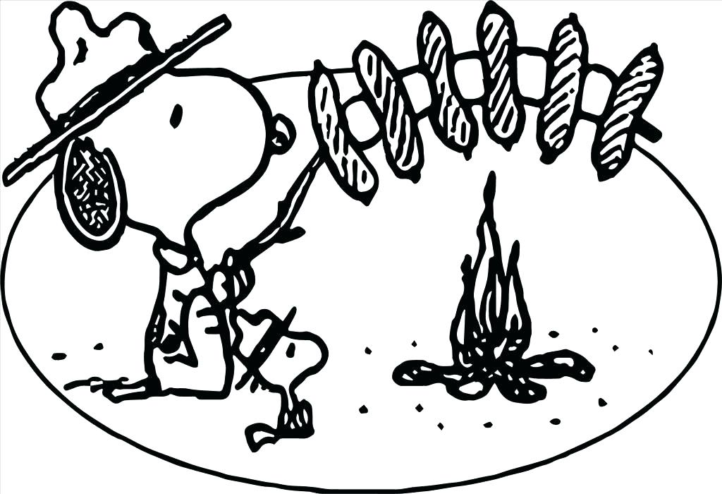 1024x700 Camping Coloring Pages Printable Free Best Picture