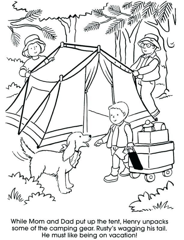 613x800 Camping Coloring Pages To Print Camping Coloring Pictures