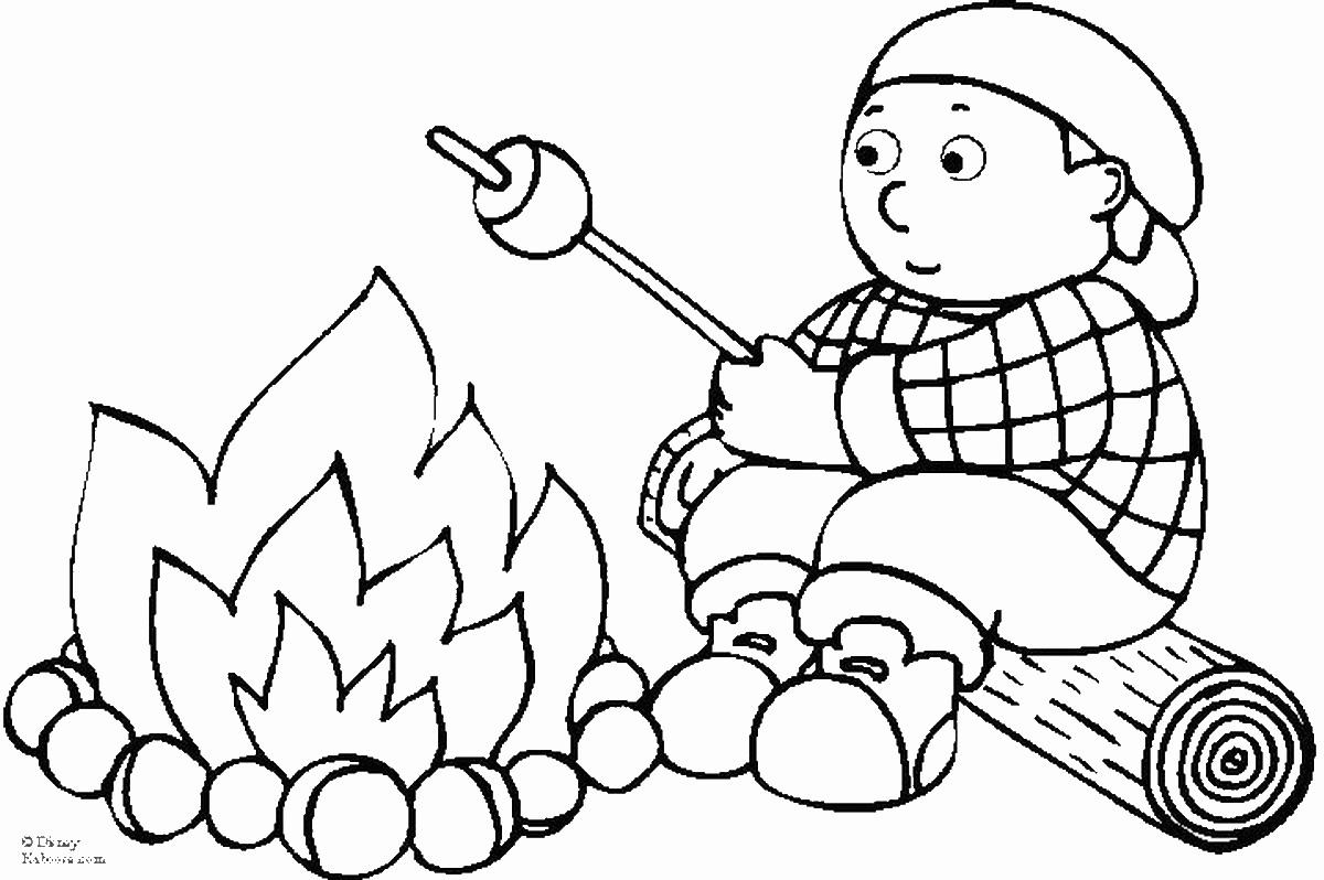 1200x798 Camping Coloring Pages