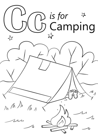 340x480 Camping Coloring Sheets For Kids Printable Coloring Page
