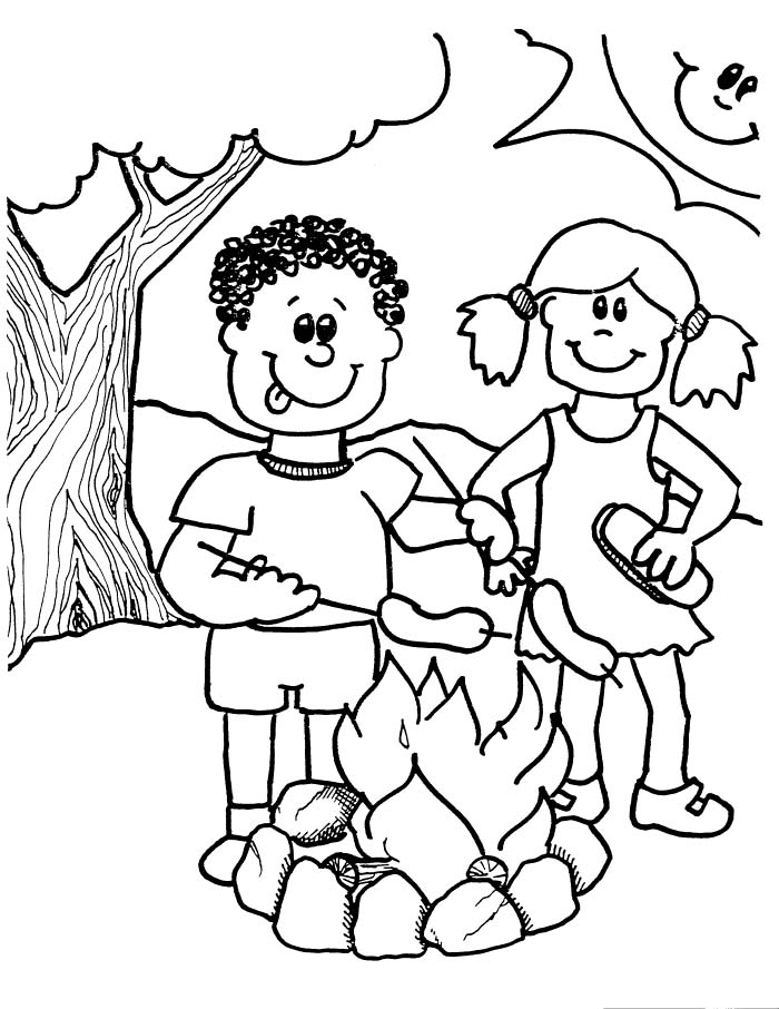 700x906 Camping Coloring Pages Printable For Kids