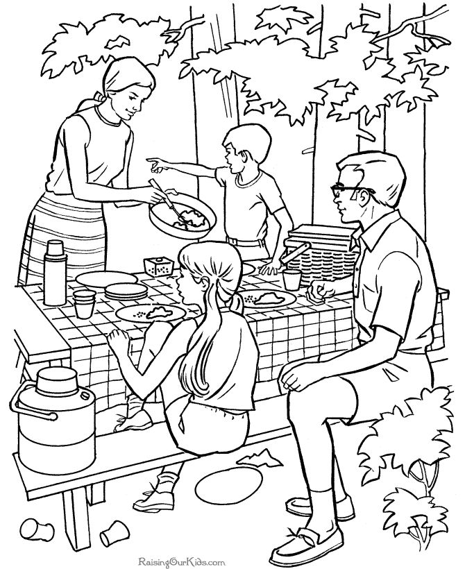 670x820 Exelent Camping Coloring Pages To Print Photos