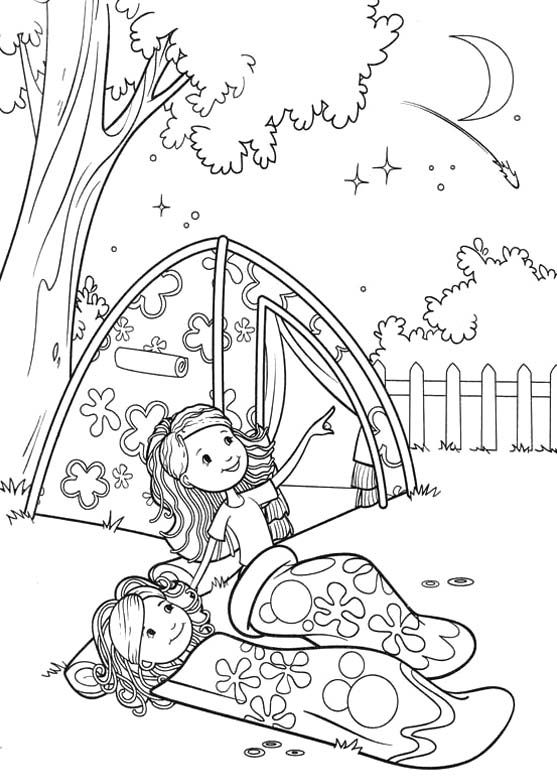 557x778 Girl Scout Camping Coloring Pages Groovy Girls Camp Coloring