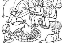 220x150 Camping Coloring Pages