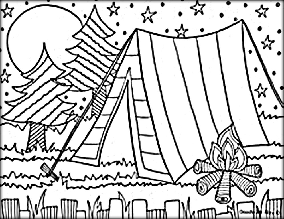 996x768 Camping Coloring Pages Printable Coloring Pages
