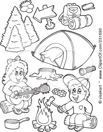 353x450 Kids Camping Colouring Pages Printable Digis