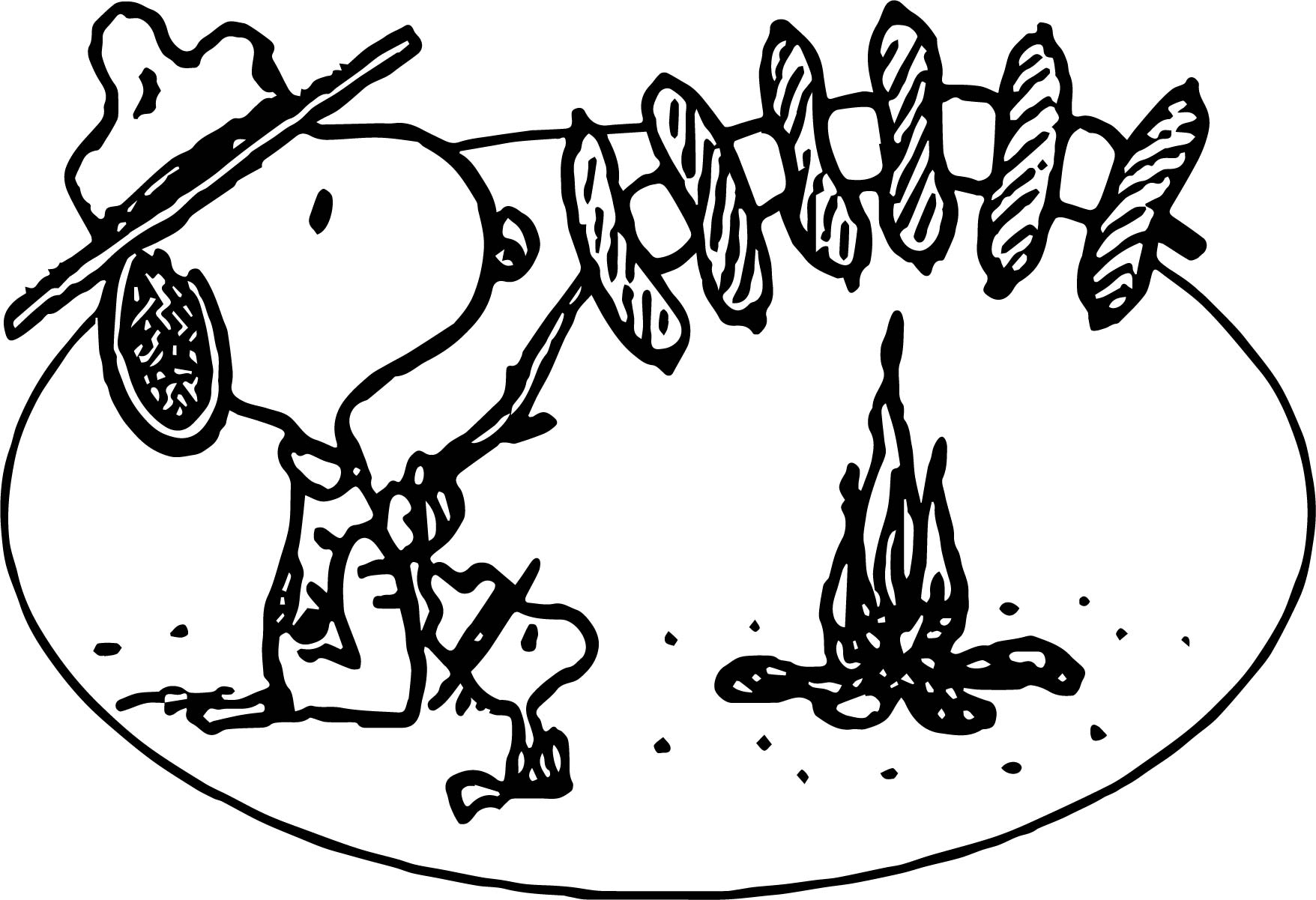 1756x1201 Art Snoopy Camping Coloring Page Wecoloringpage