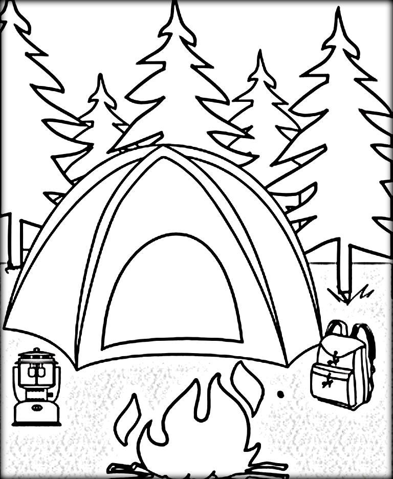 768x936 Tent Color Page Camping Coloring Pages Color Zini Circus Tent