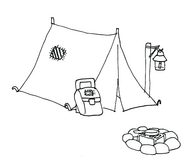 600x524 Tent Coloring Page Boy Scouts Set Up A Tent Coloring Pages Circus