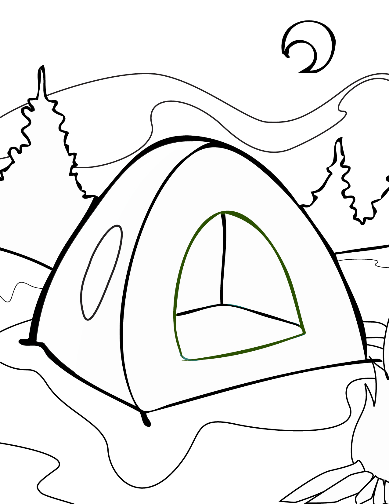 1275x1650 Tent Coloring Page Printables