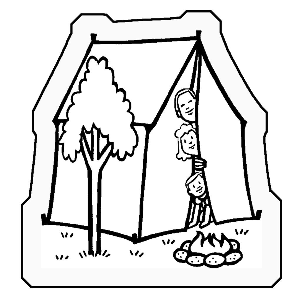 1024x1024 Tent Coloring Pages