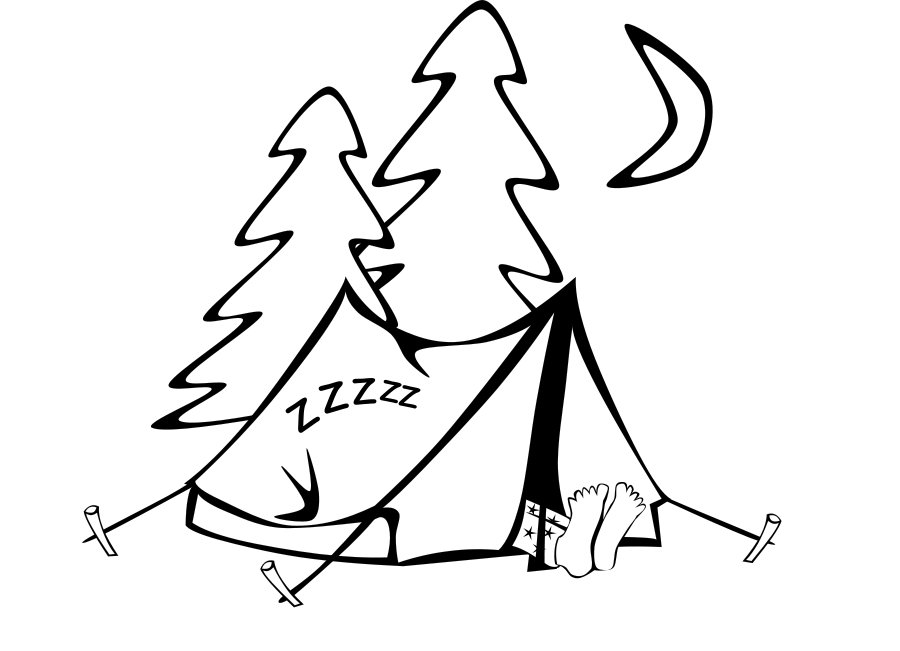 900x651 Tent Coloring Pages For Camping Lover Kids