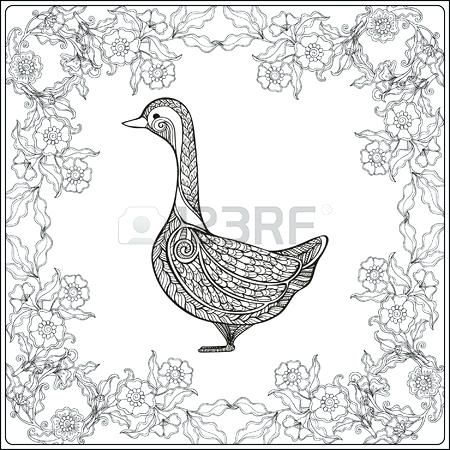 450x450 Goose Coloring Page Little Bird Hop Canadian Goose Coloring Page