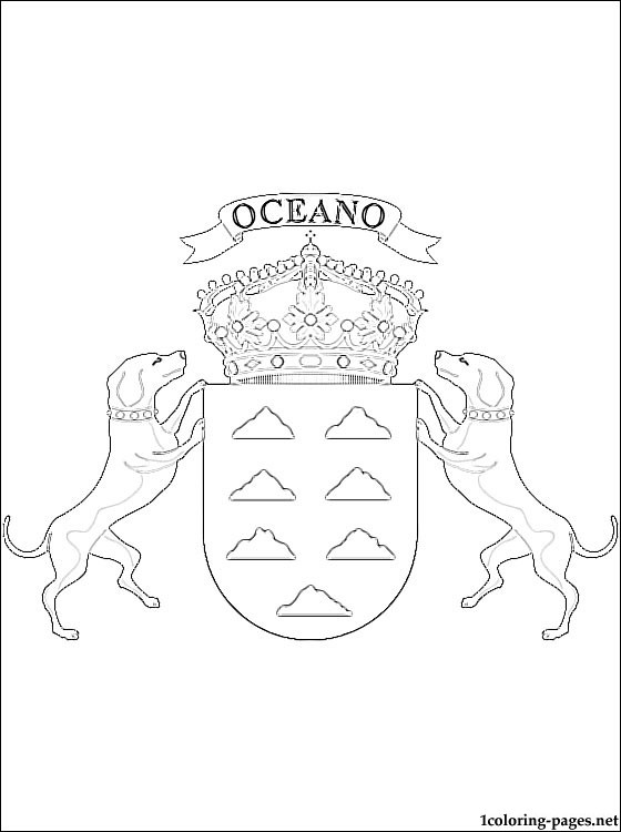 560x750 Canary Islands Coat Of Arms Coloring Page Coloring Pages