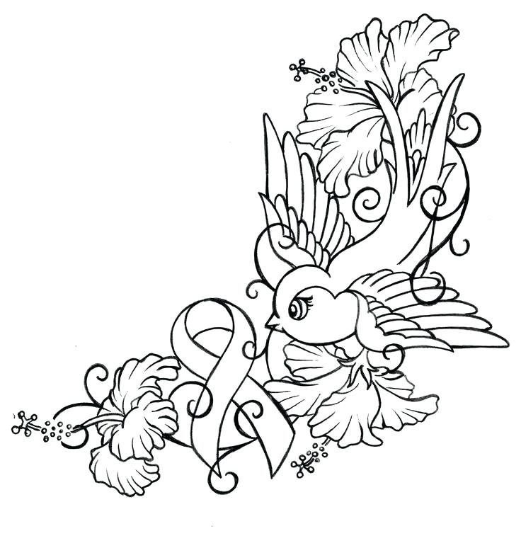 736x774 Breast Cancer Ribbon Coloring Pages Breast Cancer Coloring Pages