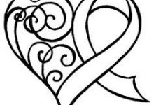 220x150 Innovation Cancer Ribbon Coloring Pages Breast For Kids Distress