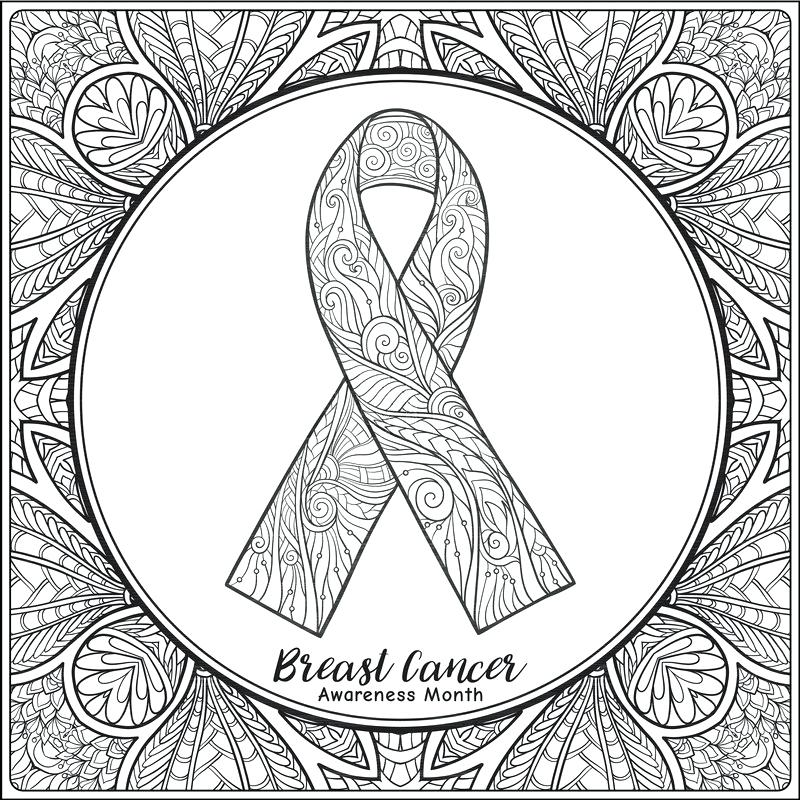 800x800 Breast Cancer Awareness Coloring Pages Plus Breast Cancer