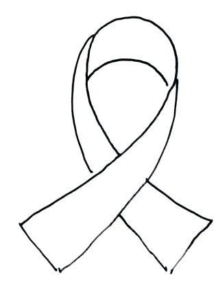 318x432 Cancer Ribbon Coloring Page Yongtjun