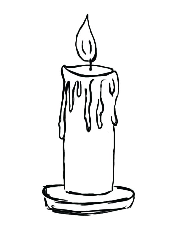 600x800 Candle Coloring Page Candle Coloring Pictures Light Candle