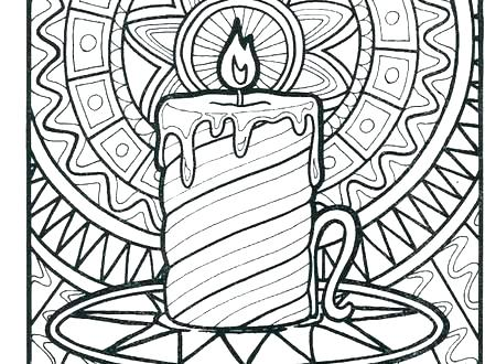 440x330 Candle Coloring Pages Candle On Light On Coloring Page Advent