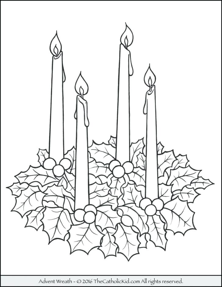 728x942 Candle Coloring S Candle Coloring Page