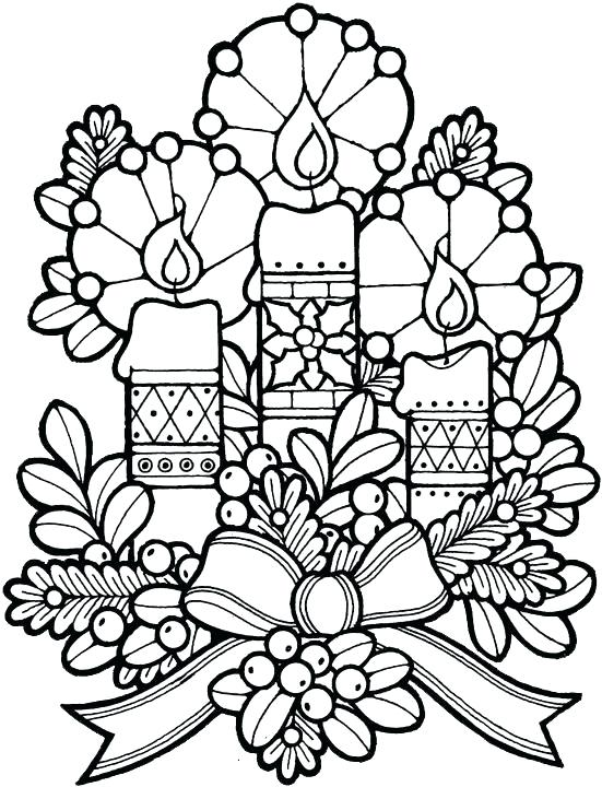 551x720 Christmas Candle Coloring Page Printable Christmas Coloring Pages