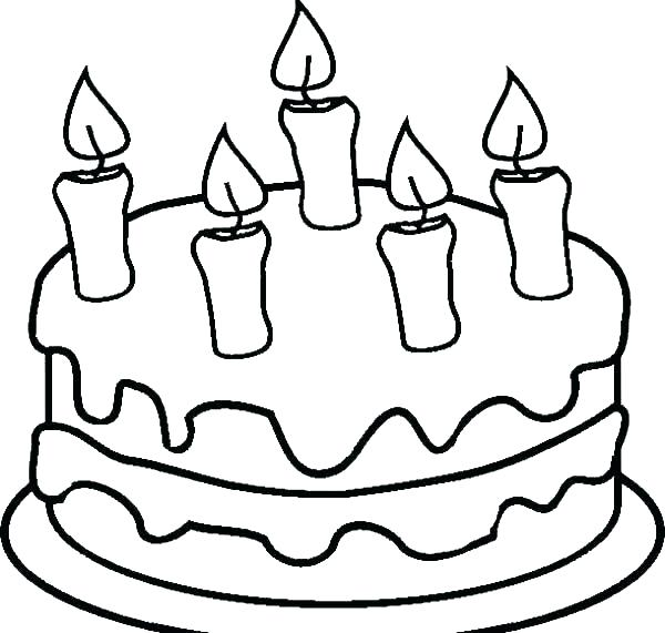 600x571 Cupcake Coloring Pages Coloring Page Cake Candle Coloring Page
