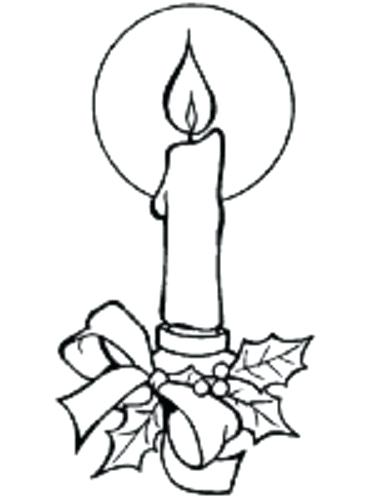 375x500 Drawn Candle Coloring Page Pencil And In Color Drawn Candle Drawn