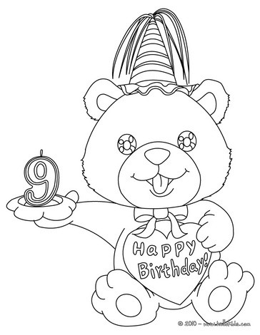 364x470 Birthday Candle Years Coloring Pages