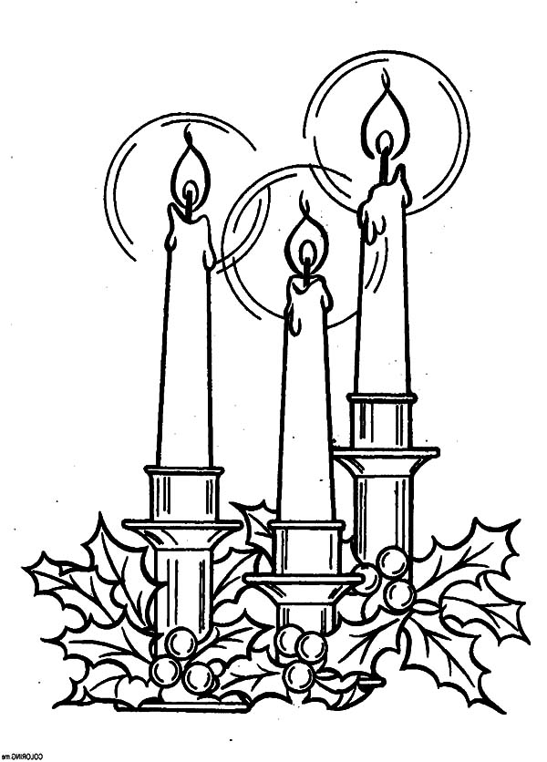 600x836 The Star Of Bethlehem Christmas Candle Coloring Pages