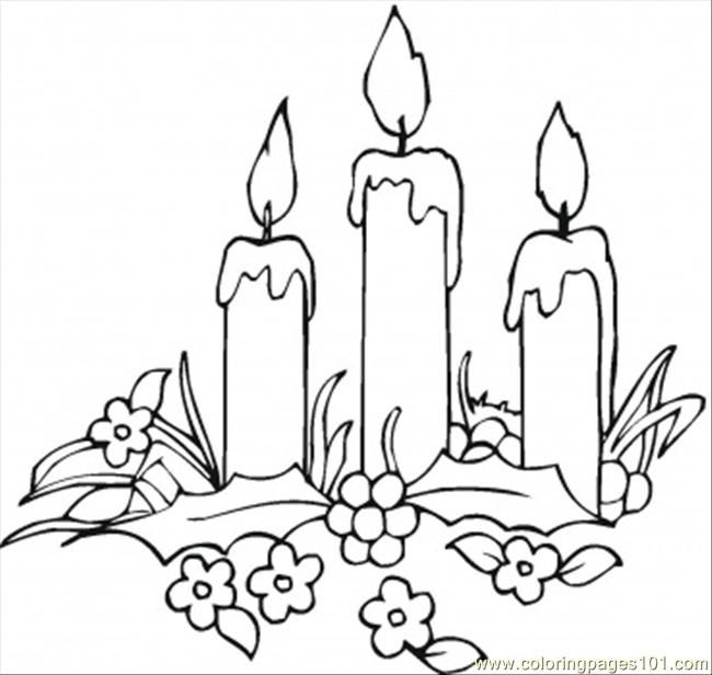 650x616 Images Of Candles Coloring Pages