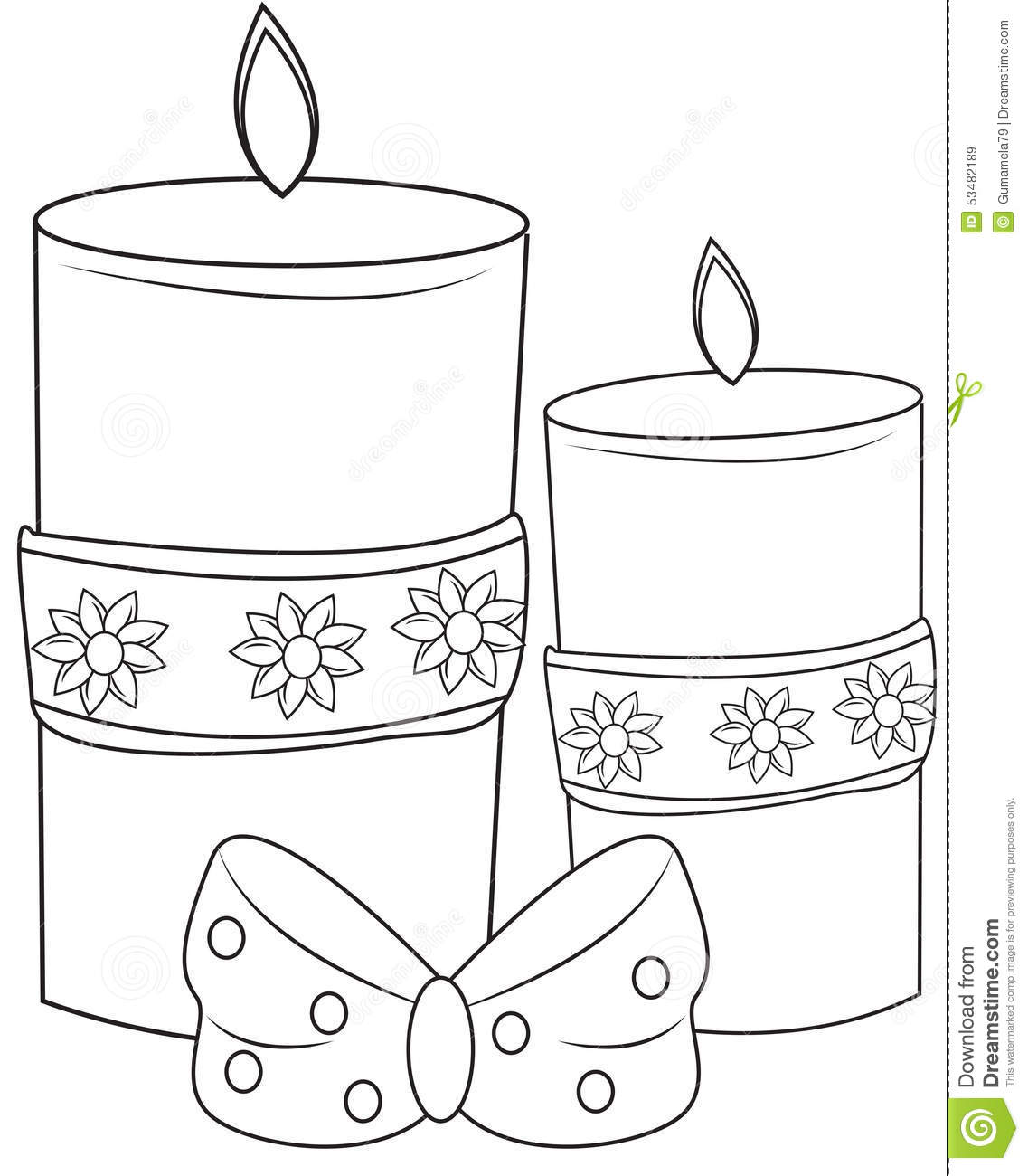 1137x1300 Candle Coloring Page