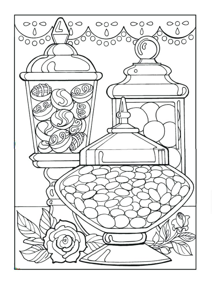 736x984 Coloring Pages Of Candy Creative Haven Designer Desserts Coloring