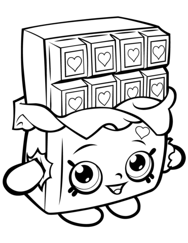 371x480 The Chocolate Touch Coloring Pages Chocolate Cheeky Shopkin
