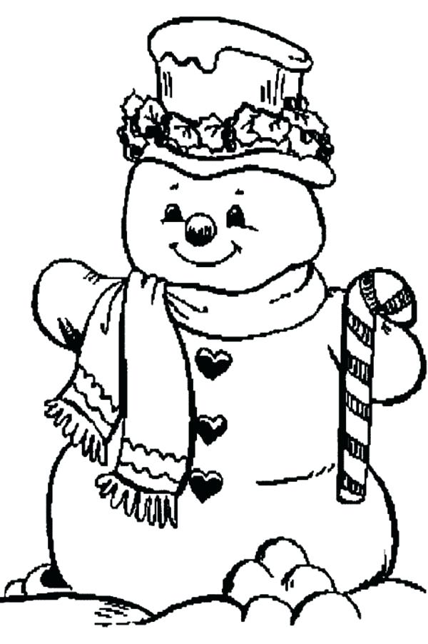 600x902 Candy Coloring Pages Snowman And Candy Cane Coloring Page Candy