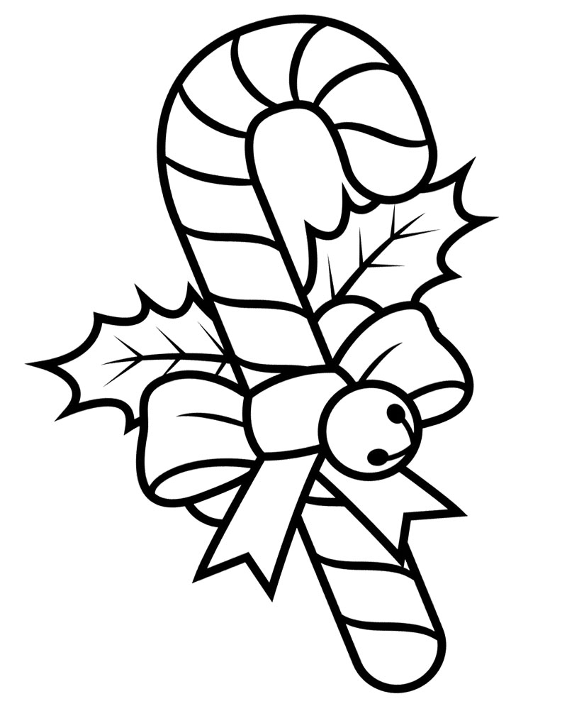 Candy Cane Printable Coloring Pages
