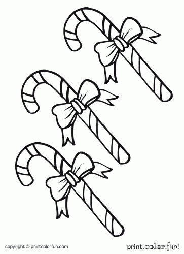 363x500 Candy Canes Coloring Page