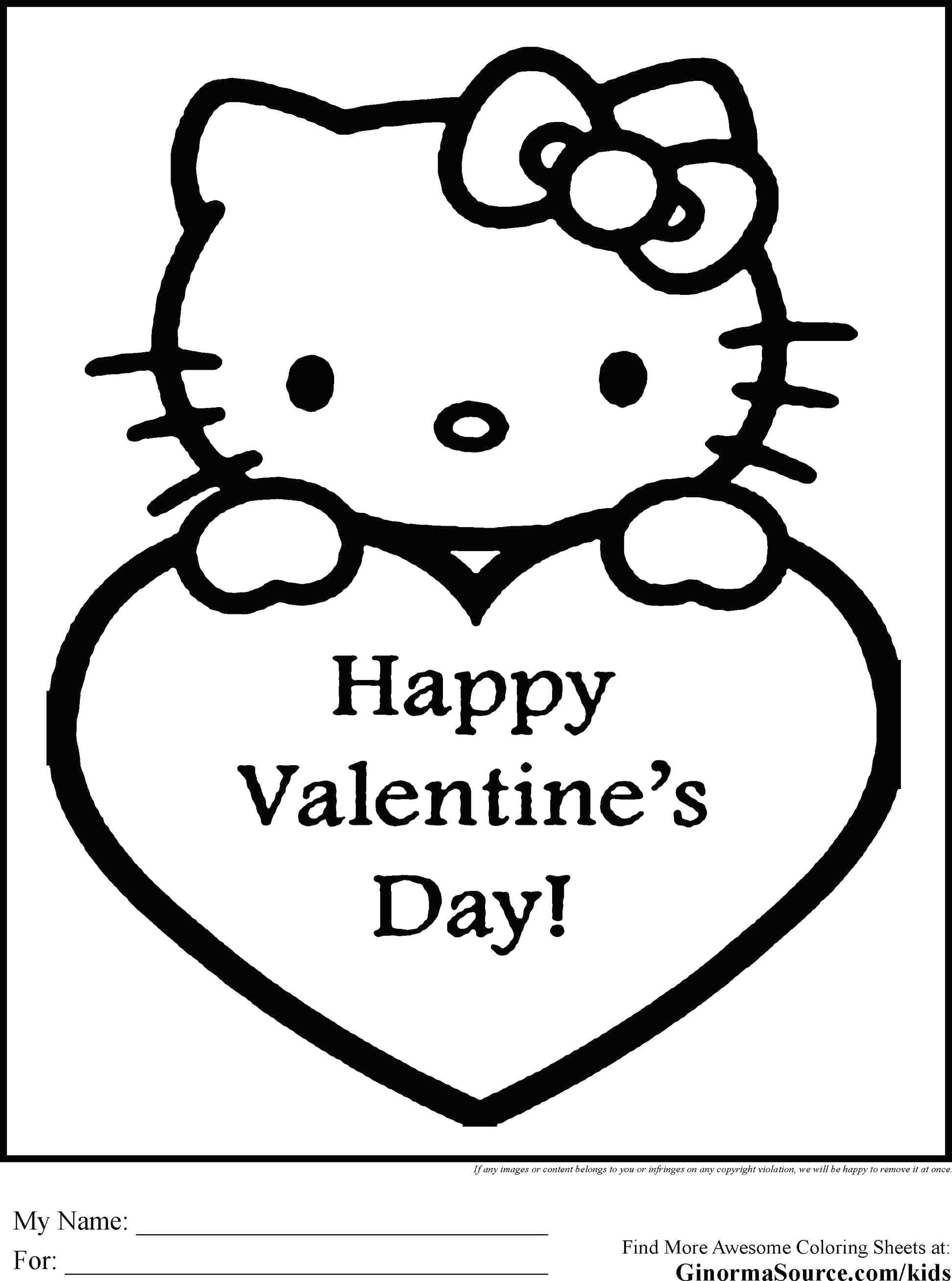 1943x2615 Cool Coloring Valentine Heart Coloring Page Day Cute Words Happy