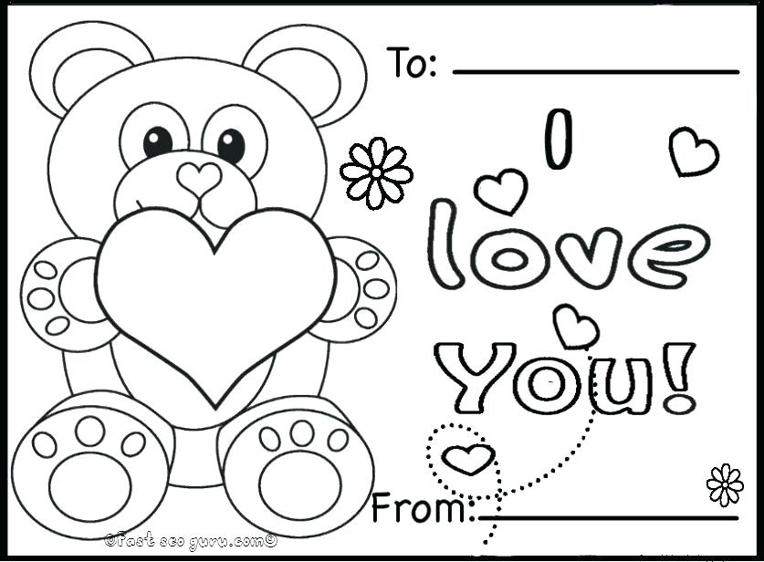837x616 Valentine Heart Coloring Pages Free Kids Valentines Day Heart