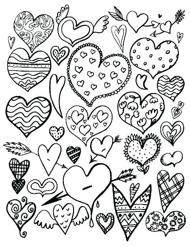 392x507 Valentine Hearts Coloring Pages Valentine S Day Heart Candy