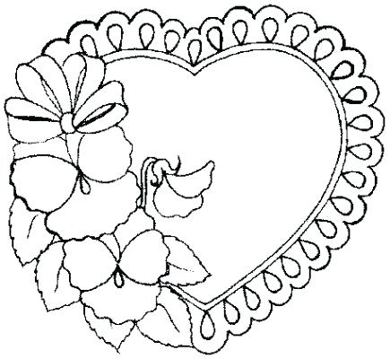 435x400 Valentines Heart Coloring Pages Free Valentine Day Heart Valentine