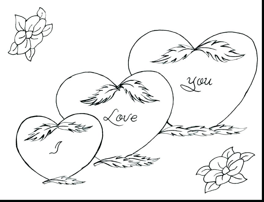 863x660 Valentines Hearts Coloring Pages