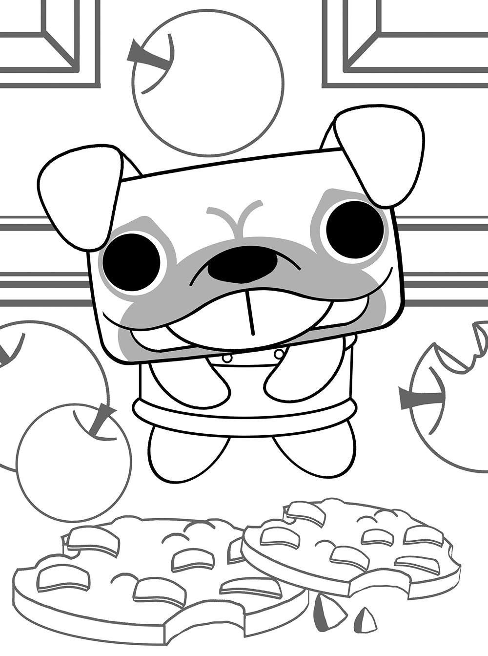 1000x1343 Uly Pug Canimals Dibujos Colorear E Imprimir Dibujalandia Sketch