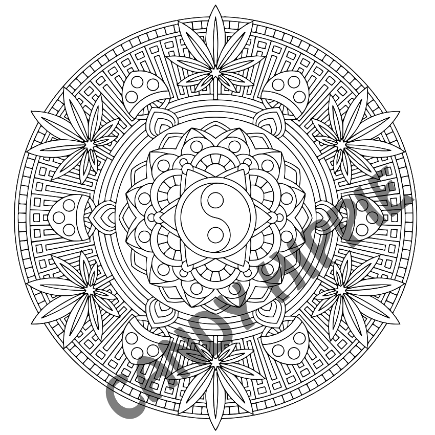 The best free Marijuana coloring page images. Download ...