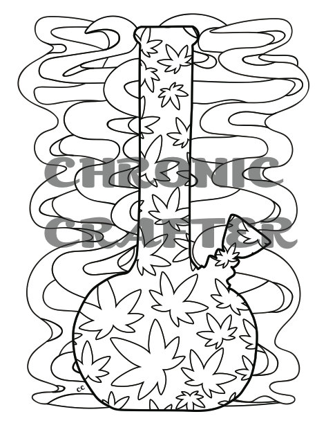 472x611 Marijuana Themed Coloring Pages For Stoners Instant