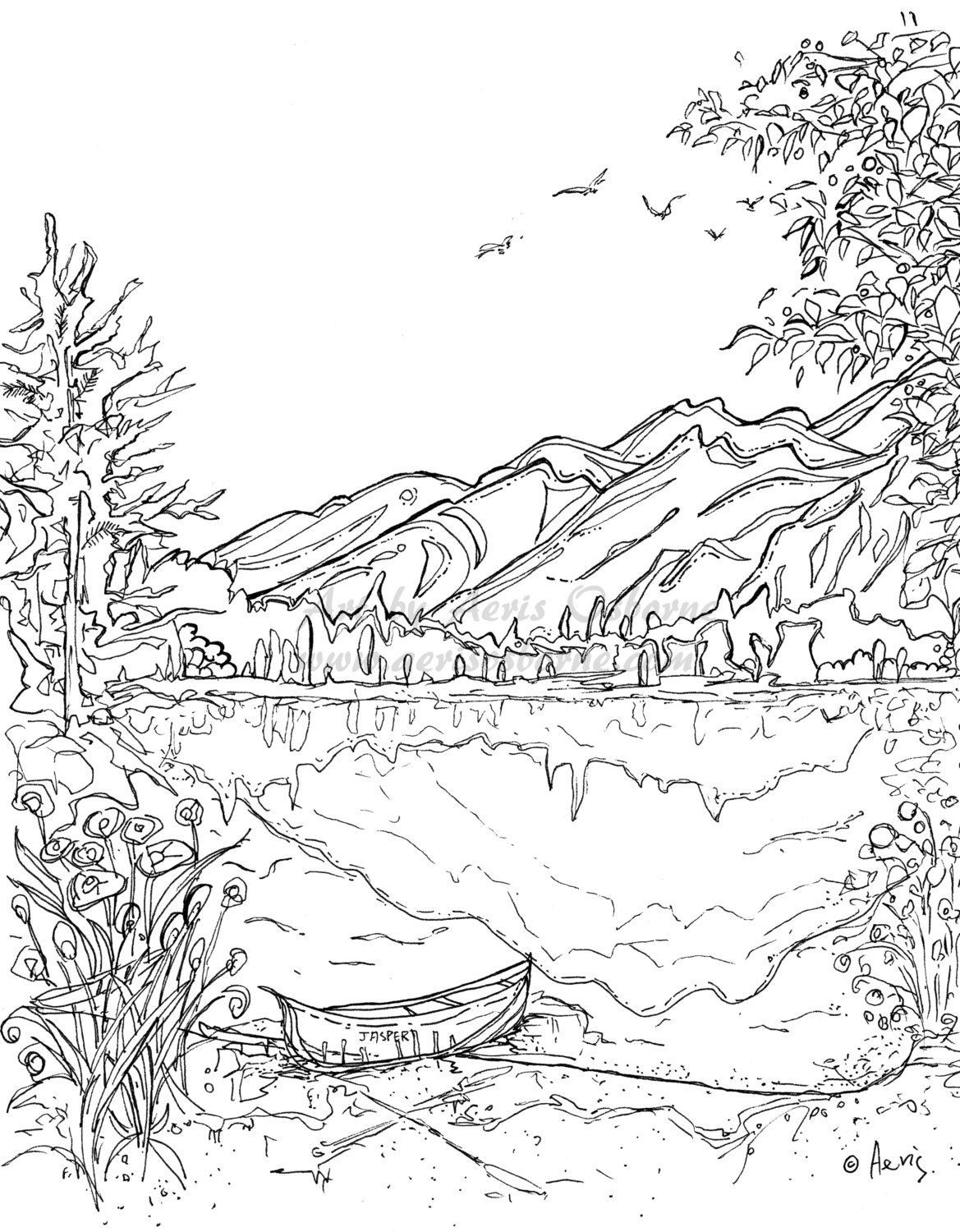 1169x1500 Astonishing Serenity Jasper Landscape Printable Coloring Page