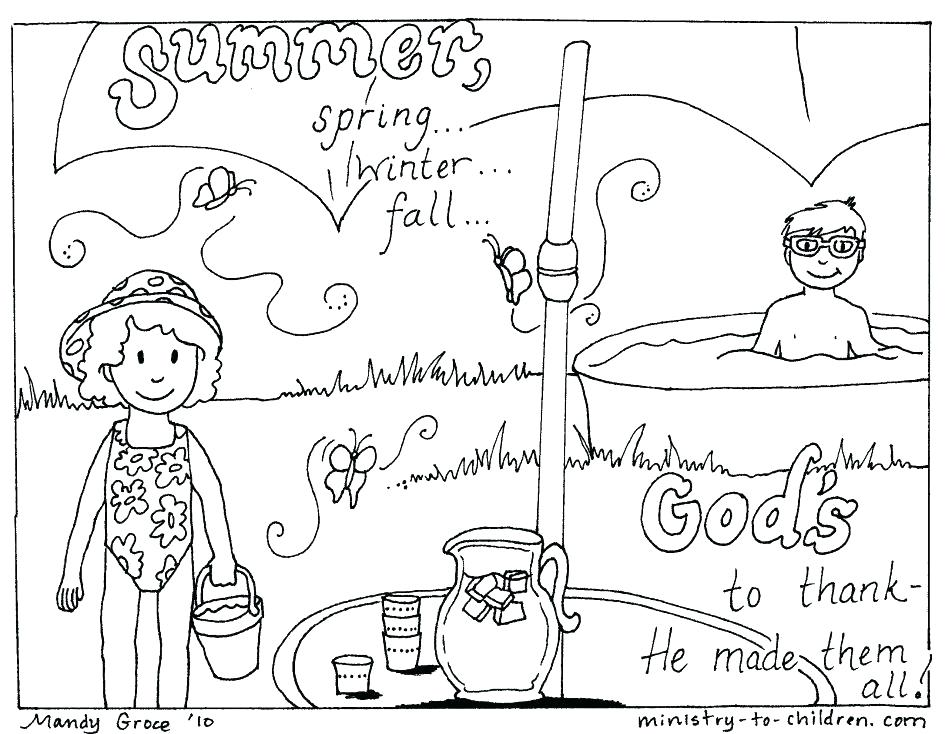 945x734 Fishing With Canoe On Summertime Coloring Page Wesmec Site
